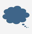 thinking cloud icon vector image