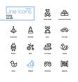 toys - modern line design icons set vector image