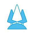 tree pines symbol vector image