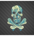 Tribal tatto skull vector image vector image