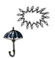 umbrella icon shelter symbol-100 vector image vector image