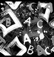 urban geometric black and white abstract vector image