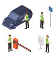 valet icon set isometric style vector image vector image