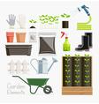 Conceptual of Gardening Garden tools equipment