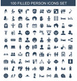 100 person icons vector image vector image
