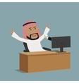 Arabian businessman receiving a diamond vector image
