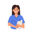 avatar smiling doctor or health worker in vector image vector image