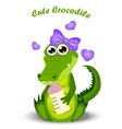 baby crocodile or alligator vector image