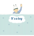 Baby shower card with little boy sleep vector image