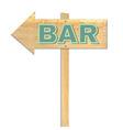 Beach Bar Sign vector image vector image