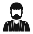 Bearded man avatar icon simple style vector image vector image