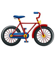 Bicycle with red frame vector image