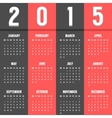 black and red european calendar of 2015 year vector image vector image