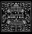 black and white winter card with warm vector image vector image