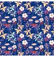 Blue wild flowers seamless pattern vector image vector image