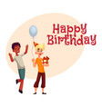 boys at birthday party black dancing caucasian vector image vector image