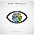brain and eye symbol vector image vector image