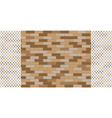 brick wall with a decorative white grille vector image vector image