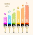 business brush infographics Flat vector image vector image