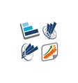 business success service set vector image vector image