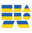 buttons with flag of Ukraine vector image vector image