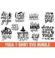 calligraphy yoga design graphic design typography vector image vector image