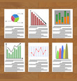 chart and graph collection vector image vector image