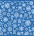 christmas seamless snowflakes eps 10 vector image