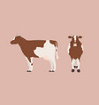 cow isolated on light background bundle vector image vector image
