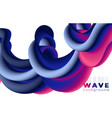 creative design 3d flow shape liquid wave vector image vector image