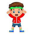 cute boy good posing vector image vector image