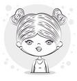 cute half body girl vector image