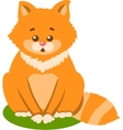 Cute Kitten Isolated vector image vector image