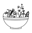 dish with healthy food isolated icon vector image vector image