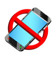 do not use smartphone prohibition sign vector image vector image