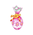 Easter egg wrapped in colorful paper vector image