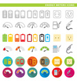 energy meters icons vector image vector image