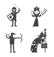 Fantasy characters flat icon vector image vector image