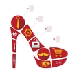 fashion flat infographic vector image vector image