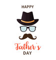 father day happy s day dad with hat vector image