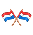 Flag of Netherlands icon cartoon style vector image
