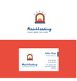 flat alarm logo and visiting card template vector image vector image