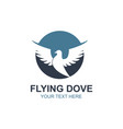 flying dove icon vector image