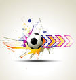 football artistic design vector image vector image
