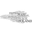 gliwice word cloud concept vector image vector image