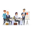group managers workplace businessman team working vector image vector image