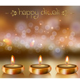 Happy Diwali Design with Candles vector image