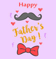 happy father day colorful design vector image