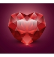 Heart shaped gem stone vector image