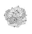 henna doodle flower vector image vector image